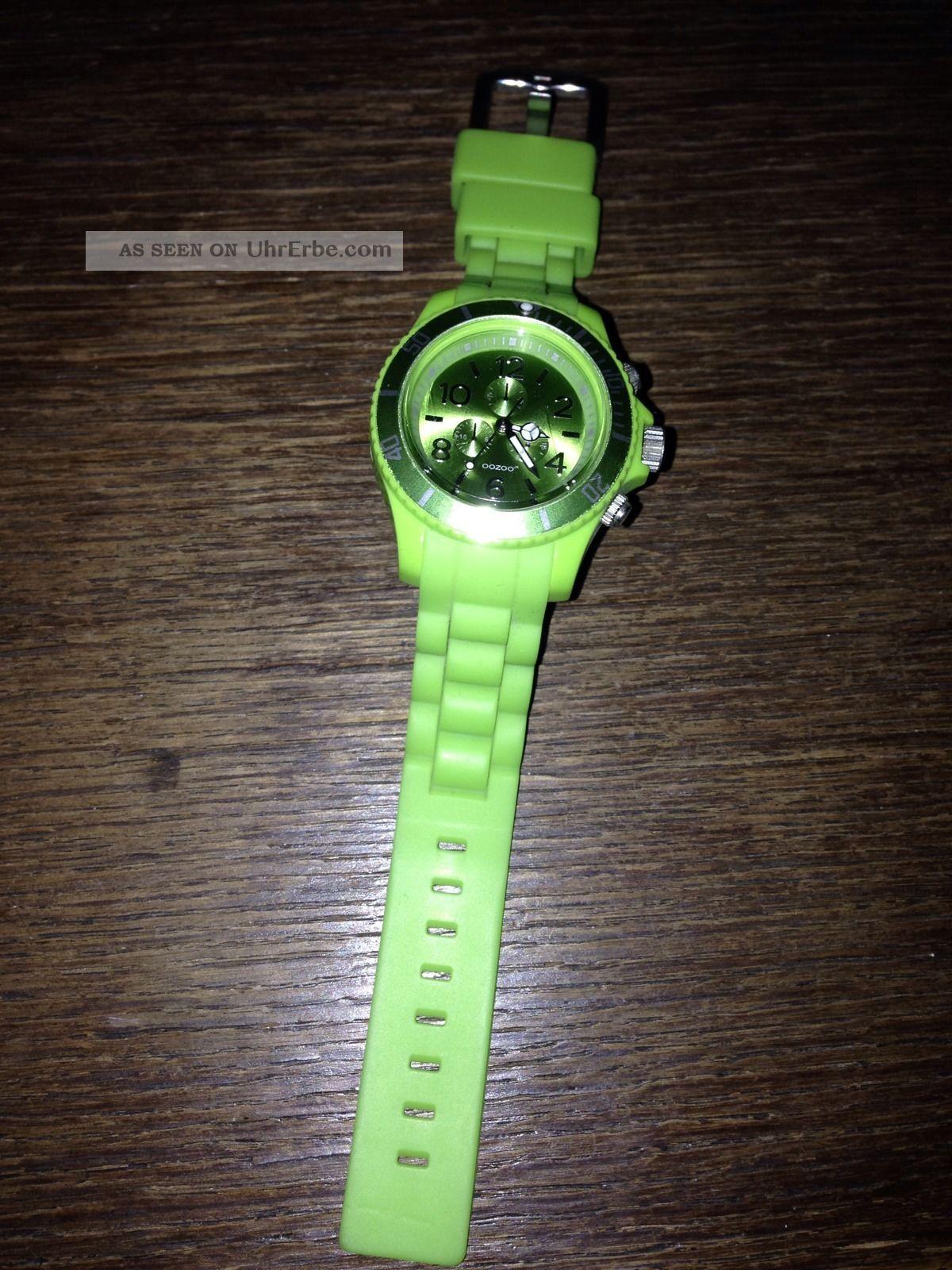 Oozoo Armbanduhr Silikon Grün Top Armbanduhren Bild