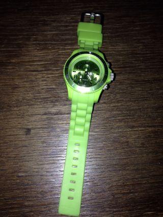 Oozoo Armbanduhr Silikon Grün Top Bild