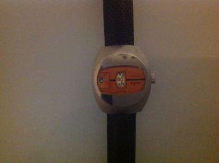 Herren Armbanduhr Ruhla Digi 73 Scheibenuhr Top Bild