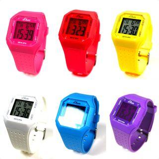 S.  Oliver Digital Uhr Damen Herren Kunststoff Digitaluhr Blau Lila Gelb Rot Pink Bild