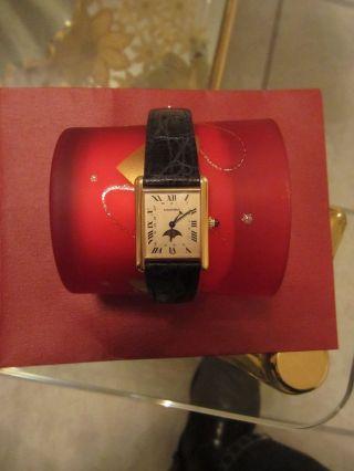 Cartier Tank Mit Mondphase Und Datum Bild