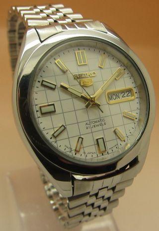 Seiko 5 7s26 - 00x0 Glasboden Mechanische Automatik Uhr 21 Jewels Datum & Tag Bild