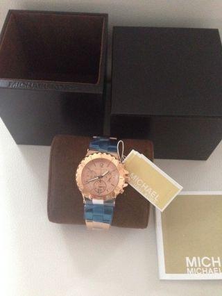 Michael Kors Mk 5499 Chronograph Damenuhr Rose Gold Mit Etikett Bild