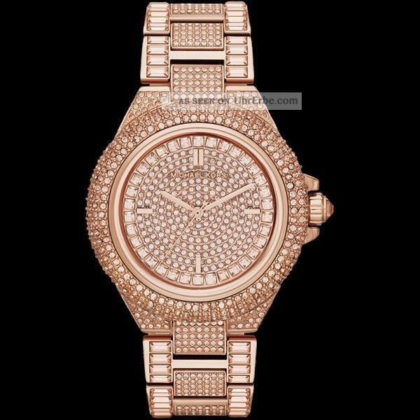 Michael Kors Uhr Glitz Rosegold Damen - Uhr Mk5862 Uvp 549€ Armbanduhren Bild