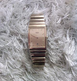 Seiko Herren Uhr Gold Sehr Schön Top Sehr Elegant Klassisch Vintage Bild