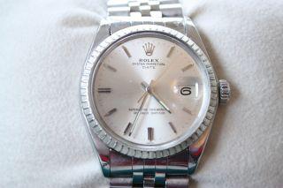 Rolex Oyster Perpetual Date 1505 Wie 1601 1500 Jubileeband Bild