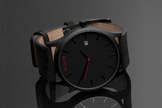 Mvmt Watch / Movement Uhr & Ovp Herrenuhr Schwarz/leder Schwarz Bild
