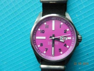 Esprit Damen Uhr Zifferblatt Pink Top Schick Bild