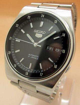 Seiko 5 Snkg23 Durchsichtig Automatik Uhr 7s36 - 8180 21 Jewels Datum & Tag Bild