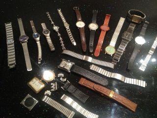 Uhrensammlung Konvolut 21 Tlg.  Armbanduhren Uhren Bastler Sammler Ersatzteile Bild