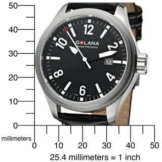 Gebrauchte Swiss Made Herren Armbanduhr Schwarz 45mm Golana Terra Pro Te100.  1 Bild