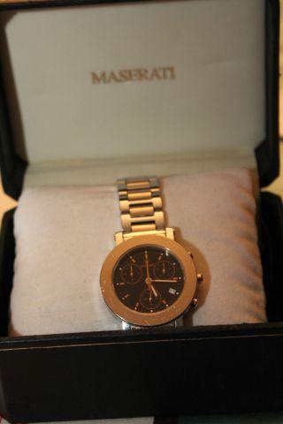Originale Maserati,  Chronograph,  Bicolor,  Herrenuhr,  Sammleruhr,  Quartz Mit Box Bild