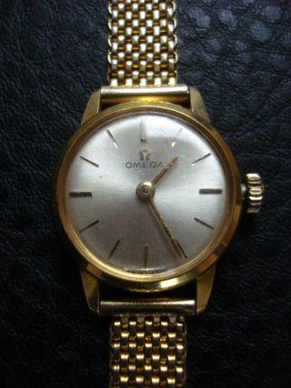 Omega Armbanduhr Damen Vergoldet Handaufzug Vintage Bild