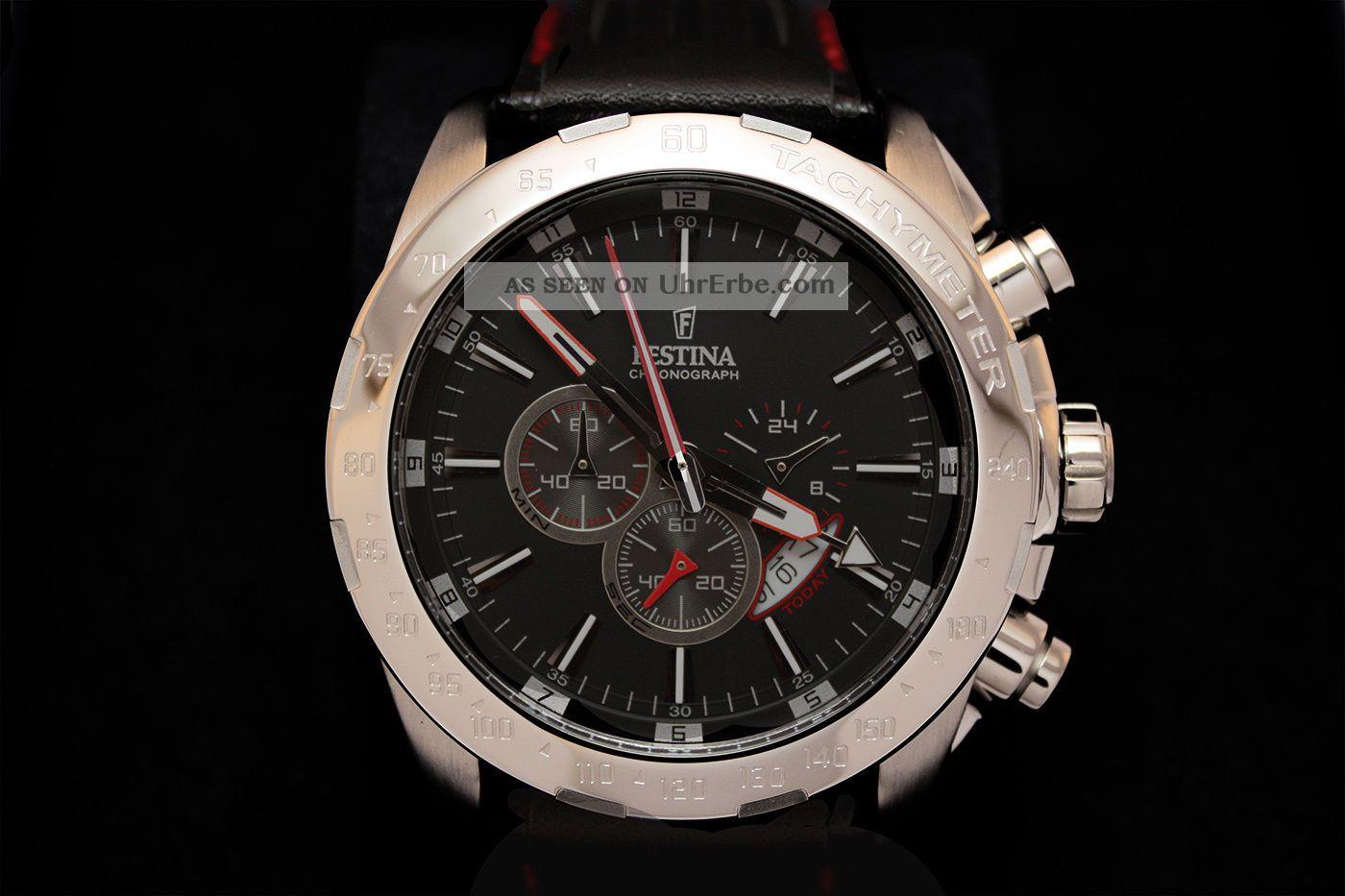 festina f16489 5 herrenuhr chronograph lederarmband. Black Bedroom Furniture Sets. Home Design Ideas
