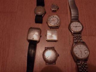 Konvolut/9 Armbanduhren/ Kienzle,  Titus,  Caravelle,  Lucerne,  Condor,  Pallas.  Etc. Bild