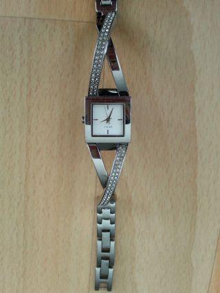 Dkny Uhr Armbanduhr Ny - 4814 Silber Farbend Mit Steine Mit Batterie Bild
