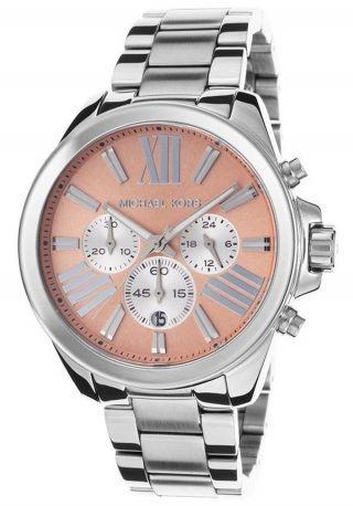 Michael Kors Mk5837 Wren Chrono Damen Armbanduhr Silber Rosa Uhr Bild