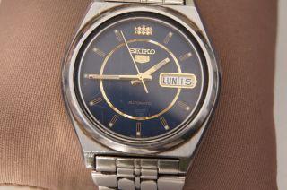 Seiko 5 7s26a - 8760 Armbanduhr 21 Jewels Automatischer Aufzug 718246 Bild