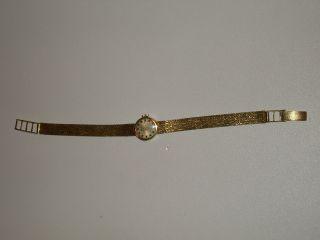 Aus Nachlass Dugena Damen Armbanduhr Gold 585 Alt Bild