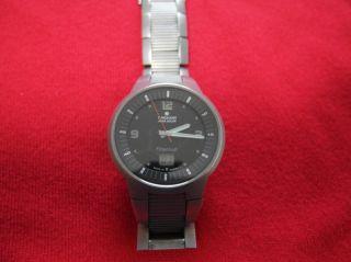 Herren Armbanduhr Junghans Mega Solar Titanium Funk Mit Titan - Armband Bild