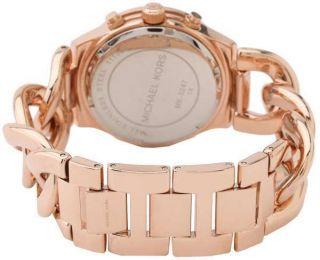 Michael Kors Damenuhr Mk3247 Chronograph Kristalle Rosegoldfarbig Top - Armband Bild
