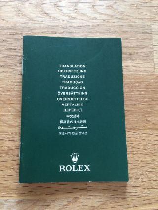 Rolex Chronometer Bescheinigung /booklet Ref.  565.  01 Bild
