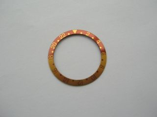 Bezel Insert For Vintage Rolex Gmt 1675 1675/3 1675/8 16753 16758 Tiger Eye Bild