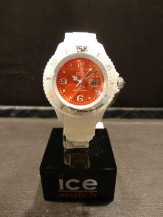Ice Watch Si.  Wd.  S.  S.  10 Herren Uhr Damen Unisex Rot Weiss Small Bild