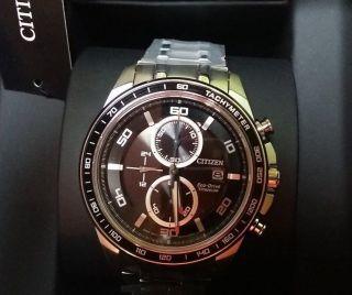 Citizen Eco Drive Herren Armbanduhr,  Titanium Chrono,  Modell: Ca0340 - 55e Bild