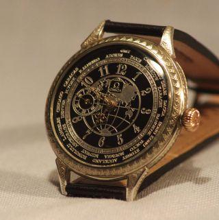 Omega 1914 Armbanduhr 50mm Umbau Graviert Bild