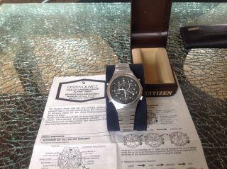 Citizen Herren Chronograph.  Weckfunktion/alarm,  Stopuhr.  Ovp,  Bedienungsanleitung Bild