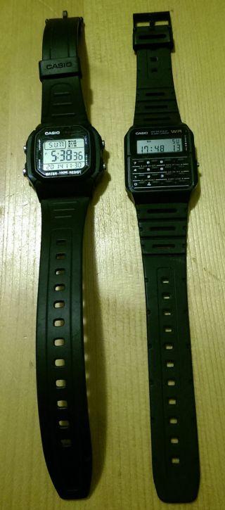 2 X Casio Digital Herren Uhr Bild