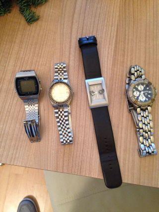 Uhren Sammlung 4x Herrenuhr.  Nicht Auf Funkion Getestet Bild