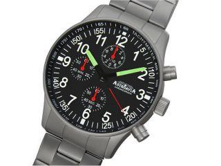 Astroavia N 87 S Fliegeruhr Herrenuhr 40 Mm Edelstahl Uhr Chronograph Bild