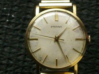 Seltene Eterna 585er Gold Herrenuhr,  Hau,  Herrenarmbanduhr,  Handaufzug Bild