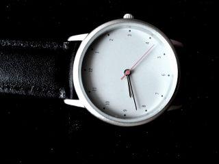 Armbanduhr Lederarmband Understatement Chronograph Zeitlos Uhrnikat Bild