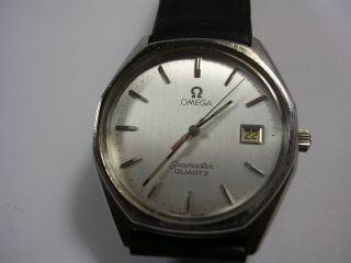 Omega Seamaster Date Quartz Herrenuhr Hau Armbanduhr Omega Swiss Made Bild