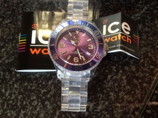 Neu: Ice Watch - Ice Pure Purple Big - Modellnr: Pu.  Pe.  B.  P.  12 - Transparent Bild