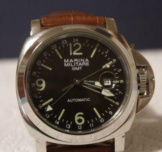 Marina Militare Gmt Fliegeruhr Armbanduhr Automatik 44mm Parnis Bild