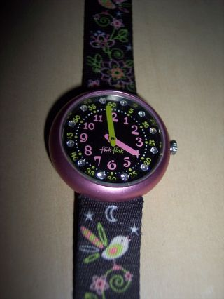 Armbanduhr Für Mädchen Von Flik - Flak Mit Glitzersteinen Bild