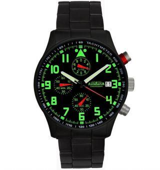 Astroavia 40 Mm Chronograph N94 Bs Fliegeruhr Herrenuhr Edelstahl Uhr Datum Bild
