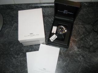 Iwc Aquatimer Iw 3719 Fliegerchronograph Taucher Flieger Uhr Verklebt & Komplett Bild