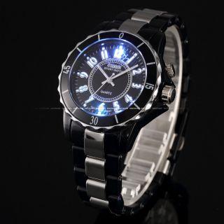 Neue Led Quarz Uhr Armbanduhr 6 Bunte Farbe Rot Damen Herren Uhr Schwarz Bild