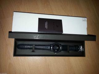 Aigner Linate A32103 Herrenuhr Armbanduhr Leder Ovp Luxus - Uhr Schwarz Silber Bild