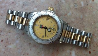 Tag Heuer 2000 Professional Damenuhr Dau Damen Quarzuhr 974.  008 R - 2 Bicolor Gold Bild