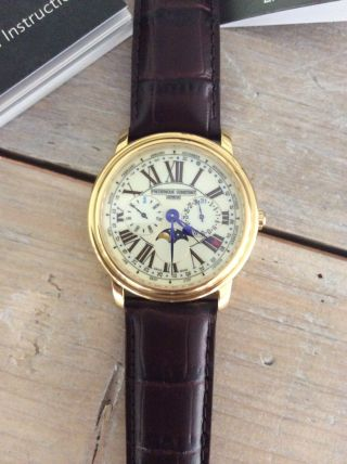 Frederique Constant Business Timer Moonhpase Gold Men ' S Watch Bild