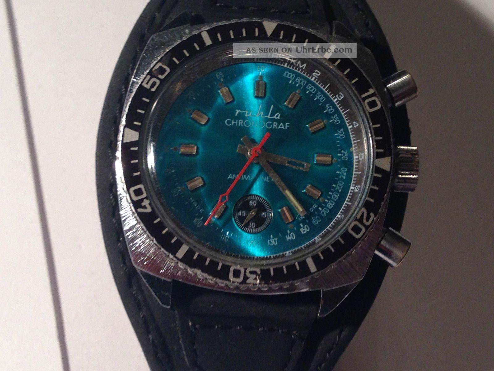 Ruhla Chronograph Herren Armband Uhr,  Sammler Uhr Armbanduhren Bild