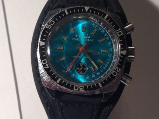 Ruhla Chronograph Herren Armband Uhr,  Sammler Uhr Bild