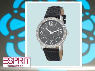 Esprit Uhr Damen - Armbanduhr Heron Glam Black Analog Leder Es104352001 Bild