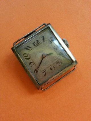 Alte Art Deco Handaufzug Uhr / Silber - Klappscharniergehäuse Bild